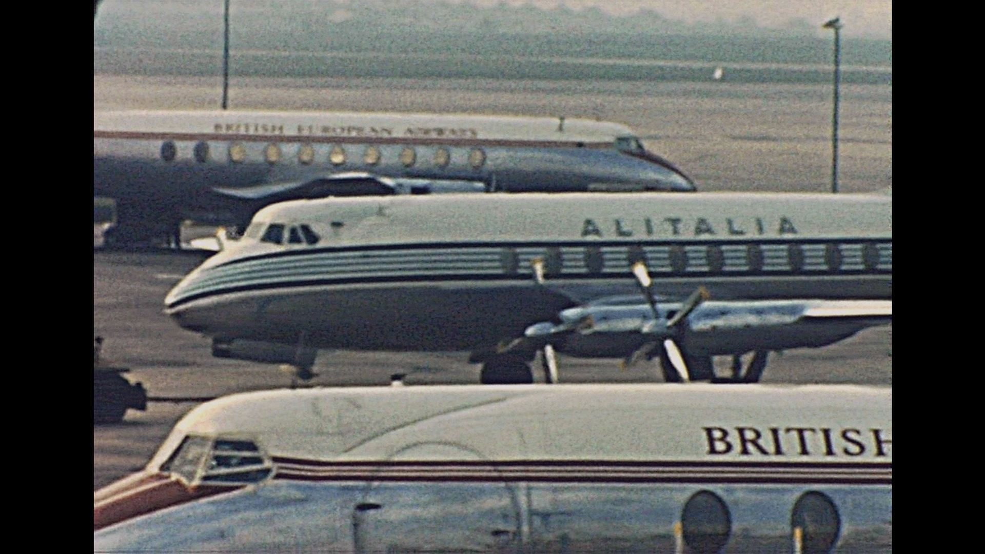 London-Milan-Rome flight 1958 – Archive Footage